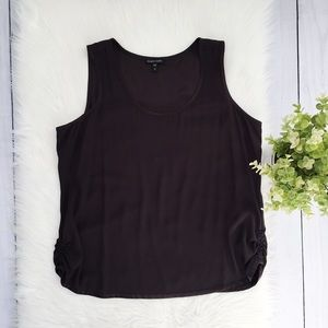 Eileen Fisher Black Scoop Neck Tank Top XL #565